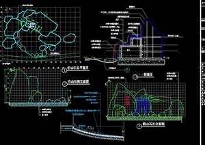 詳細的完整假山設計cad施工圖