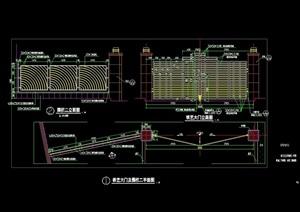 园林景观围墙大门设计cad施工图