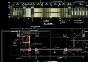 园林入口景观大门设计cad施工图