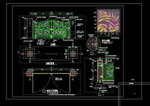 现代园林铁艺景观大门设计cad施工图