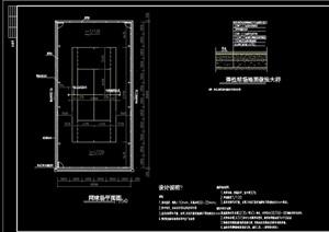 网球场详细完整设计cad施工图