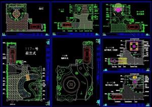 详细的别墅花园设计cad施工图