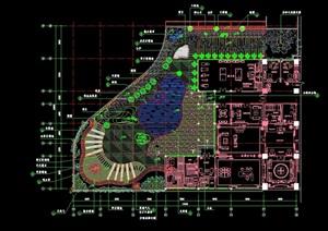 办公楼屋顶花园环境工程cad套图