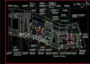 商业大楼屋顶花园景观工程cad施工图全套
