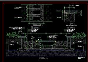 詳細的玻璃汀步素材設計cad施工圖