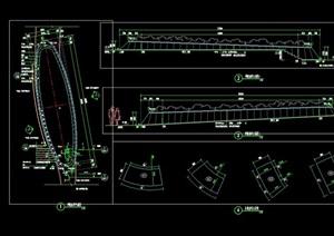 详细的椭圆形种植池设计cad施工图天正打开