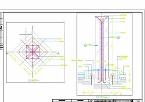 现代详细的入口灯柱设计cad详图