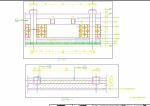 园林景观详细的经典完整围墙设计cad施工图