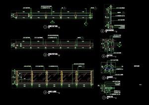 详细的精致完整栏杆设计cad施工图天正打开