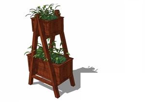 花箱— (15)模型丰富详细,材质贴图清晰,具有很高的学习参考价值,值得下载