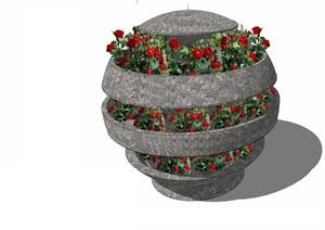 花箱— (18)模型丰富详细,材质贴图清晰,具有很高的学习参考价值,值得下载