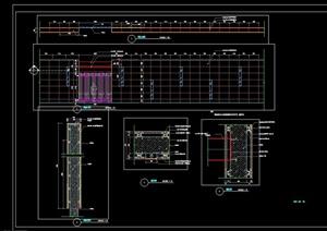 园林景观详细的完整围墙设计cad施工图
