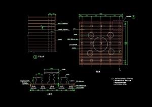 石凳、石桌设计cad施工图