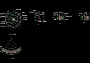 环形园凳设计cad施工图