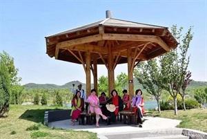 山东烟台植物园 网红景亭