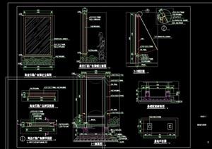 园林景观详细的商业灯箱素材cad施工图