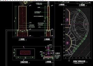 园林景观柱子设计cad施工图