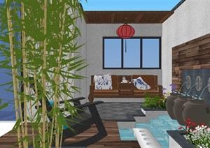 别墅庭院花园入户花园屋顶景观