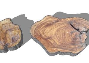 木桩景观凳子园林小品园林家具
