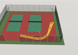 网球场室外精品SU(草图大师)模型