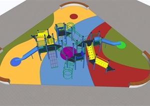 儿童大型游乐设备滑梯室外SU(草图大师)模型