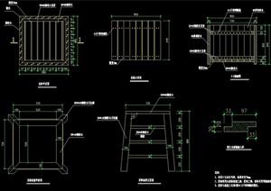 详细的独特花钵详细设计cad施工图
