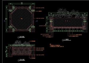 花钵种植池详细设计cad施工图