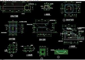 花钵详细素材设计cad施工图