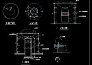 景观节点花钵详细设计cad施工图
