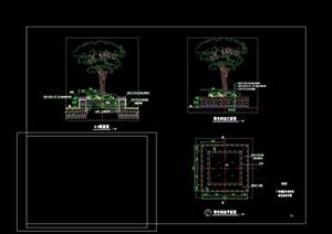 经典的园林景观节点树池cad施工图