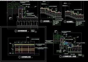 园林景观节点种植池cad施工图