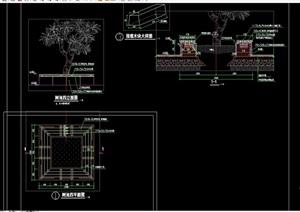 园林节点树池cad施工图