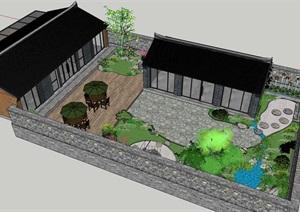 北方四合院自建房院落建筑SU(草图大师)模型