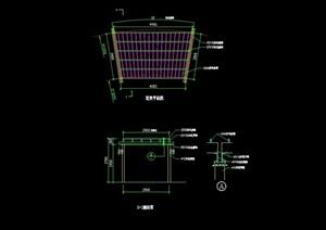 园林景观花架设计cad施工图