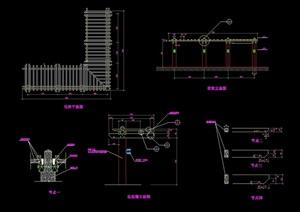 园林景观花架素材设计cad施工图