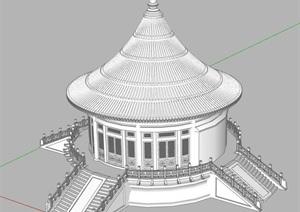 圆攒尖顶,古建筑,SU(草图大师),skp