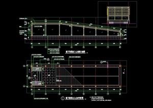 车库廊架节点素材设计cad施工图