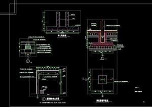 景观廊架节点素材设计cad施工图