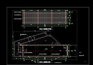 园林景观详细廊架节点素材设计cad施工图