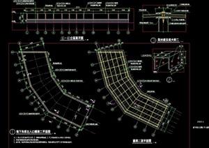 现代车库入口廊架节点素材设计cad施工图