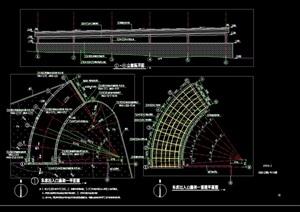 现代车库廊架节点素材设计cad施工图