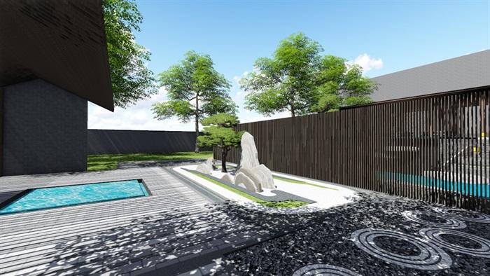 新中式别墅庭院景观设计3(1)