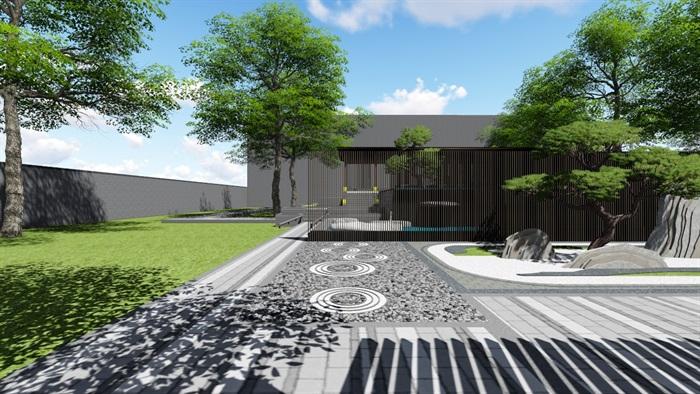 新中式别墅庭院景观设计3(11)