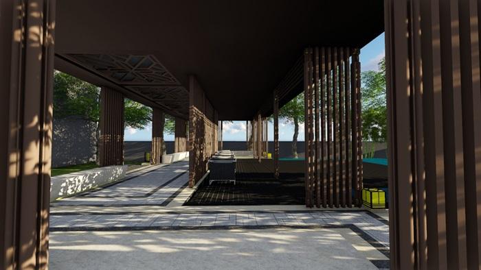 新中式别墅庭院景观设计3(14)