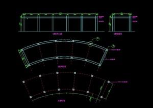 现代弧形长廊设计cad施工图