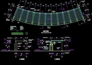 现代弧形廊素材设计cad施工图