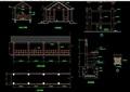 某详细的中式廊架素材设计cad施工图