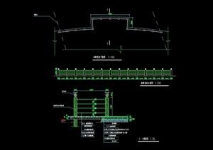 园林景观栏杆素材设计cad施工图
