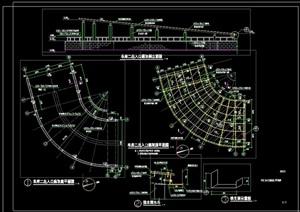 景观车库节点廊架设计cad施工图