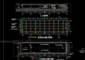 车库详细景观节点廊架设计cad施工图